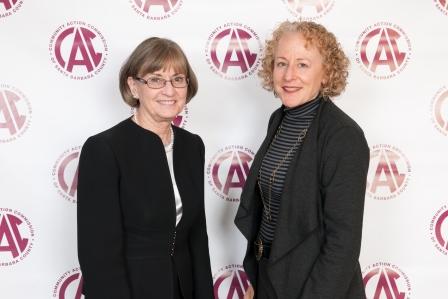 Kathy Simas and Phylene Wiggins of the Santa Barbara Foundation