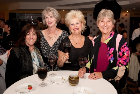 The crew from Montecito Bank and Trust enjoy the evening.